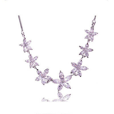 Schnelle Lieferung Asamo Damen Halskette Mit Blüten Anhänger Mit Swarovski Elements Blumen Zh1026 Duftendes Aroma
