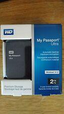 New WD My Passport Ultra 2TB External USB 3.0/2.0 Portable Hard Drive ExpediShip