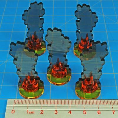 Axis & Allies Parts/pieces Flaming Wreckage Marker x5 Medium