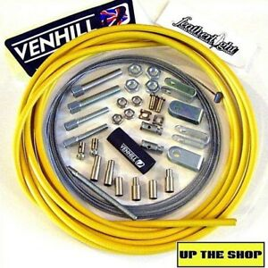 4-meter-Yellow-Venhill-Universal-Throttle-Cable-Kit-car-vehicle-race-rally