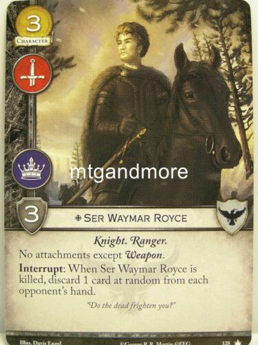 1x ser waymar royce #128 A Game of thrones 2.0 lunaires base set-second edition