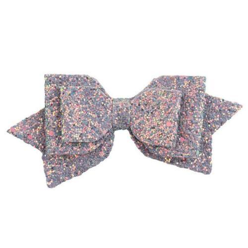 Sweet Women Girls Glitter Hairpin Bowknot Barrette Crystal Hair Clip Bow Gift 6N