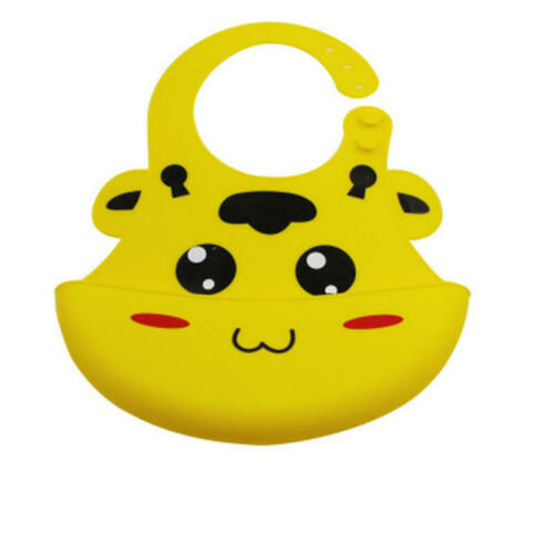 Baby Bibs Adjustable Waterproof Saliva Dripping Bib Soft Edible Silicone Set