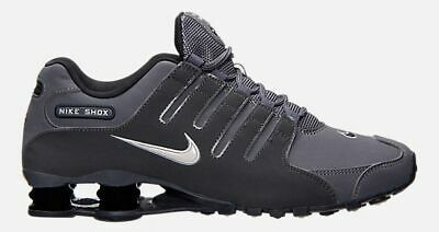 acheter populaire 286c6 14694 NIKE SHOX NZ MEN's RUNNING DARK GREY - METALLIC IRON ORE - ANTHRACITE  AUTHENTIC | eBay