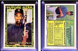 Garret-Anderson-Signed-1994-Topps-84-RC-Card-California-Angels-Auto-Autograph