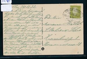 30314) Bahnpost Ovalstempel Lübeck-lüneburg Train 249, Ak Mölln Waldhalle 1932-afficher Le Titre D'origine Brillant En Couleur