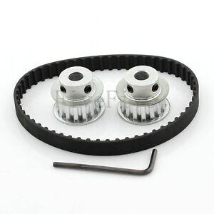 2pcs HTD3M 18 Teeth Timing Pulley 10mm Width Belt Set Kit Reducer Ratio 1:1