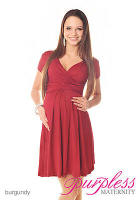 Beautiful Maternity Short Sleeve Summer Dress Size 8 10 12 14 16 18 8417