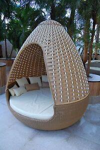 Design sonneninsel  Reelaxx Egg - Poly Rattan Sonneninsel Gartenmöbel Lounge ...