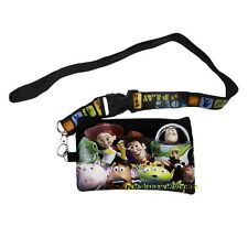 Disney Toy Story Lanyard ID Ticket Key Chain Badge Holder Wallet