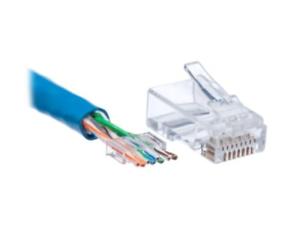 10 Pcs CAT5 Plug EZ RJ45 Network Cable Modular 8P8C Connector