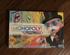 NEW SEALED Monopoly for Millennials Edition Board Game