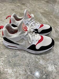 Men's Nike Air Max Prime 876068-102 White Siren Red Black Running Shoes Size 8.5