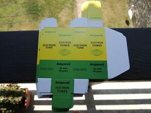Amperex-Roehre-Karton-Faltschachtel-fuer-Radio-Roehren-12au7-12ax7-ecc803s-e83cc