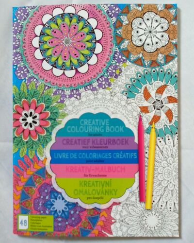 Mandala Kreativ Malbuch für Erwachsene 48 Bilder