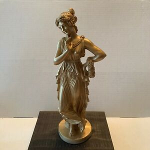 Vintage-Donna-Greca-Pensante-Sculpture-Made-In-Italy-Heavy