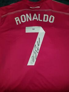 new concept 1d60f 8b1cc Details about Cristiano Ronaldo Auto Real Madrid Pink Jersey