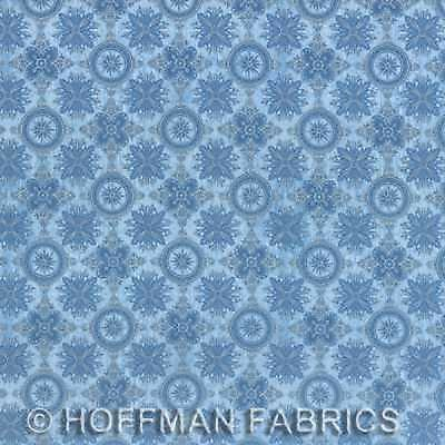 Hoffman Seascape by Punch Studio L7314 133S Pacific//Silver BTY Cotton Fabric