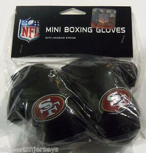 Nip Nfl 4 Inch Mini Boxing Gloves San Francisco 49ers Ebay