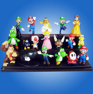 """A Super Mario Bros 1.5~2.5"""" Lot 18 pcs Action Figure Doll"""