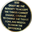Infinity-AA-Medallion-Elegant-Black-Gold-Silver-Plated-Sobriety-Chip-Coin thumbnail 2
