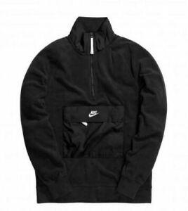 en soldes 572e4 b7b52 Détails sur Nike Vêtements de Sport Homme Demi Fermeture Éclair Haut XL  Noir Blanc Pull
