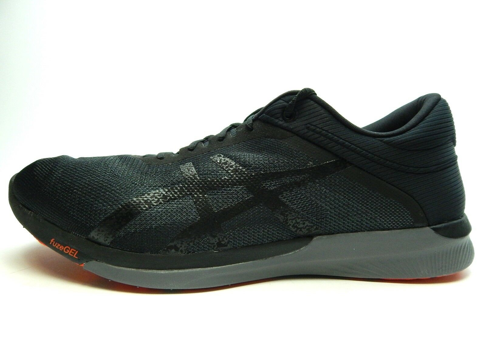 ASICS fuzex Rush t718n 9097 Carbono Zapatos Negro tomate cherry Hombre Zapatos Carbono Tamaño 14 542a2d