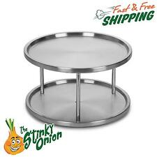 Vintage Lazy Susan Turntable 2 Tier