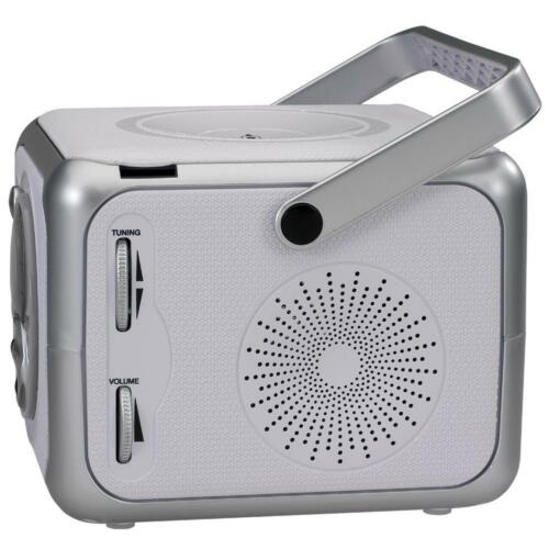 Portable CD Player Small Silver FM Stereo MP3 Top Load Jensen 120V