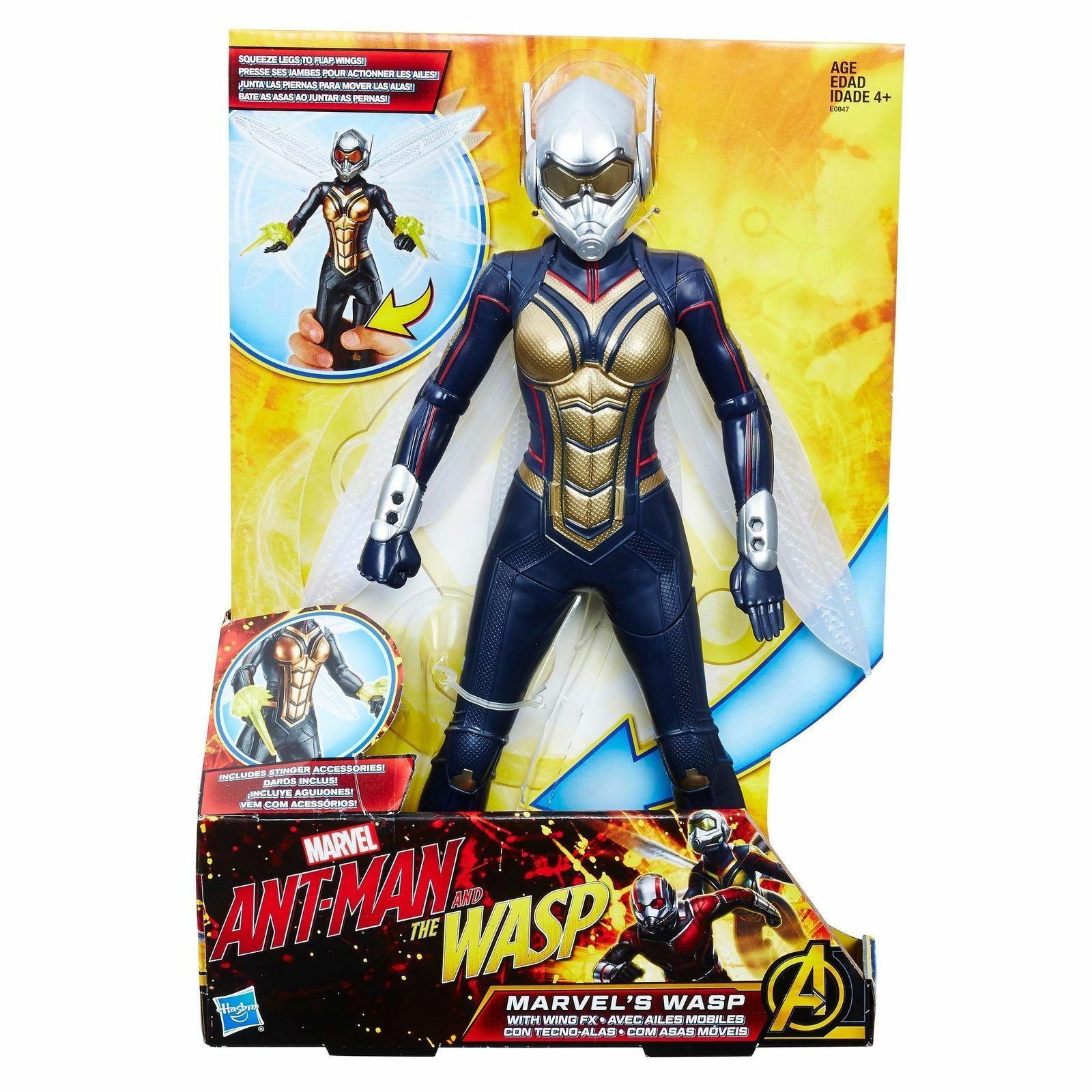 THE WASP ( 12  ) ANT-MAN & THE WASP MOVIE ( 2017 ) MARVEL AVENGERS ACTION FIGURE