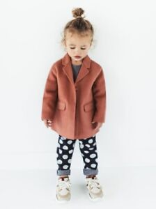 5c89a45f4d Details about Zara Baby Masculine Coat Girl 9-12 Month Dusty Rose Pink Wool  Blend