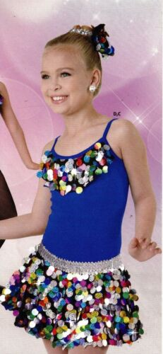 NWT Spangle Circle tap Skirt Child sizes Multi color Dance Costume w// Hairbow