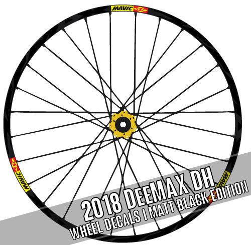 2018 MAVIC DEEMAX DH Downhill Wheel decals autocollants pour MTB bike bicycle adesivi