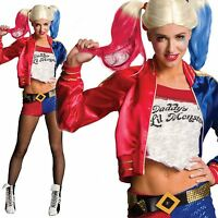 Adult Harley Quinn Ladies Costume Fancy Dress Halloween Suicide Squad Womens New