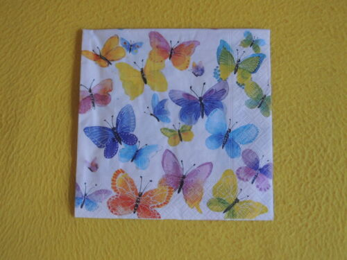 20 servilletas mariposas muchos multicolor 1 envase OVP motivservietten Butterfly