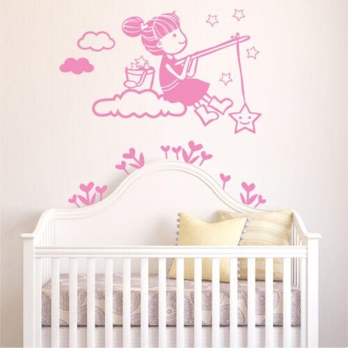 Wall Decals DecoMatters Girl Kids Nursery Childrens Vinyl Wall Art Stickers