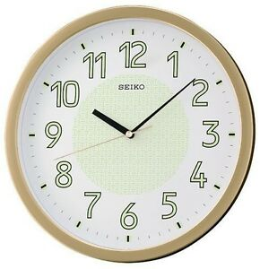 Image Is Loading New Seiko Lumibrite Silent Quiet Sweep Wall Clock