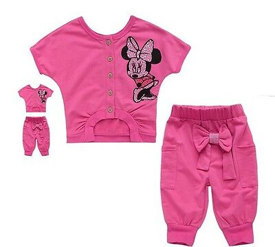 New baby kids girls T shirt+ short Pants Set Clothes girls Costume Y9 size:2-8T