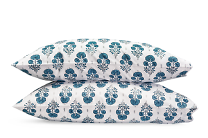 Matouk Joplin King Pillowcase - Pair - Mineral bluee