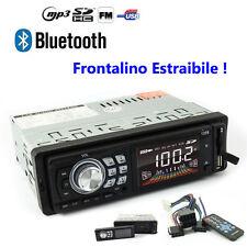 STEREO AUTO FRONTALINO ESTRAIBILE BLUETOOTH 45WX4 AUTORADIO FM MP3 USB SD AUX