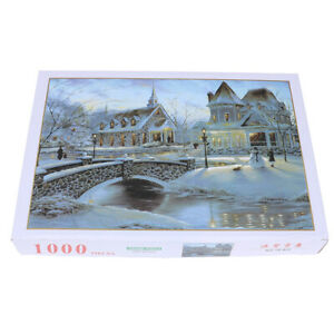1000Pieces-Jigsaw-Puzzles-Educational-Toy-Warm-Snow-Scene-Adult-Puzzle-Ho