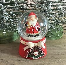 Scandi Babbo Natale Mini Babbo Natale palla di neve 45mm Gisela Graham VINTAGE