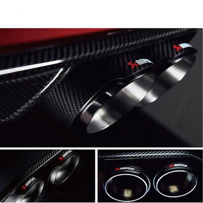 63mm ID//76mm OD Exhaust Tips Car Akrapovic Carbon Fiber Muffler Pipes 1pcs