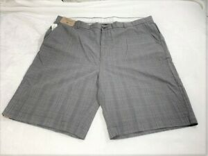 Roundtree-amp-Yorke-Men-039-s-Relaxed-Fit-Plaid-Casual-Shorts-Big-amp-tall-Size-46-NEW