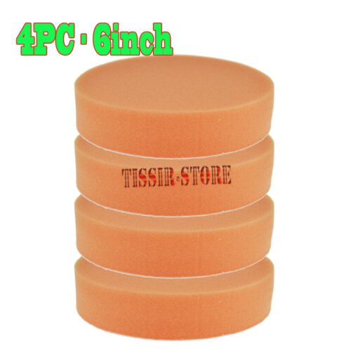 orange plat Foam Cut Buff /& Polishing pad tampon pad pour Voiture Polisseuse environ 15.24 cm 4x 6 in
