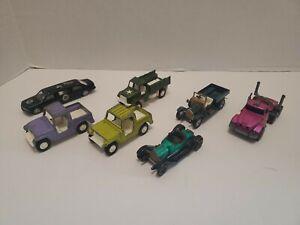 Vintage-1969-Tootsie-Toy-Jeep-Camiones-ademas-de-Matchbox-Rig-y-RAF-camion
