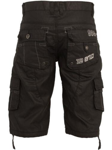 Da Uomo Enzo Denim Alla Moda Pantaloncini Eccezionale Dettagli Ezs 257-Nero COATED Denim