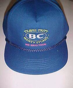 756157e0e45cf Travis Tritt Marty Stuart BC No Hats Tours Blue Trucker Cap Hat One ...