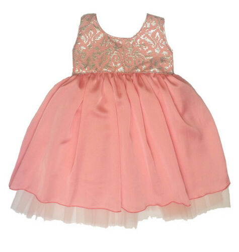 NWT Five Loaves Two Fish Girl/'s Pink Blushing Brocade Dress $84 Choose Size