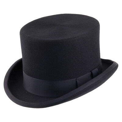Quality Brand New Traditional Men/'s Formal Wedding Event Wool Navy Top Hat